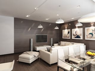 Living room by MIODESIGN, Minimalist