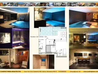 Vivienda unifamiliar aislada, piscina y spa: Spa de estilo  de CUADRAT PINEN ARQUITECTES