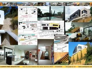 Minimalistyczne domy od CUADRAT PINEN ARQUITECTES Minimalistyczny
