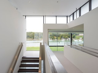 Yachtsman's House Modern corridor, hallway & stairs by The Manser Practice Architects + Designers Modern