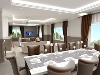 teknogrup design Ruang Makan Gaya Rustic