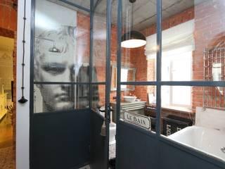 Loft- kamienica ul.Jagiellońska Warszawa 100 m2 livinghome wnętrza Katarzyna Sybilska Industrialna łazienka