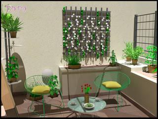 Home staging virtuale di una terrazza_DOPO:  in stile  di progettomyhome