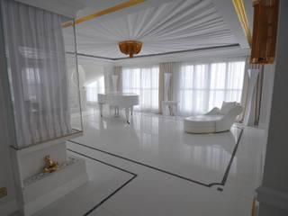 LUKSUSOWY APARTAMENT NAD MORZEM livinghome wnętrza Katarzyna Sybilska Nowoczesny salon