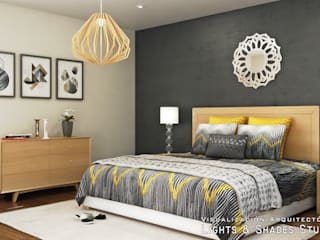 Main Bedroom Modern Bedroom by Lights & Shades Studios Modern