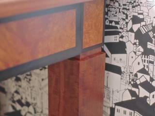 Мебельная мастерская Александра Воробьева ห้องอ่านหนังสือและห้องทำงานโต๊ะทำงาน