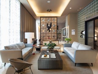 Living room by Denise Barretto Arquitetura