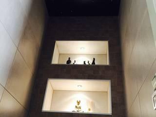 Wc Toiletten sterrenhemel plafond verlichting met glasvezel LED:  Badkamer door MyCosmos