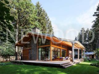 NEWOOD - Современные деревянные дома Varandas, marquises e terraços campestres
