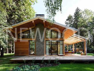 """Дом """"Woodlark"""" - комбинированные конструкции Дома в стиле кантри от NEWOOD - Современные деревянные дома Кантри"""