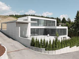 Minimalist houses by Unica Architektur AG Minimalist