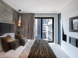 Roman House Penthouse Modern Bedroom by The Manser Practice Architects + Designers Modern