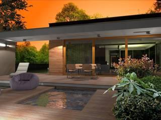 Domy pasywne: styl nowoczesne, w kategorii Domy zaprojektowany przez ABC Pracownia Projektowa Bożena Nosiła - 1