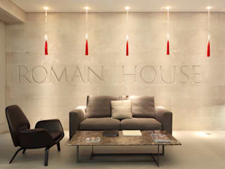 Roman House The Manser Practice Architects + Designers Couloir, entrée, escaliers modernes