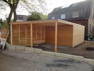 Naturhouse Carport+Gartenhaus Moderne Garagen & Schuppen von Naturmont Modern