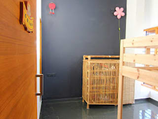 Shanthi Priya Residence at Uthandi, Chennai Minimalist nursery/kids room by Muraliarchitects Minimalist