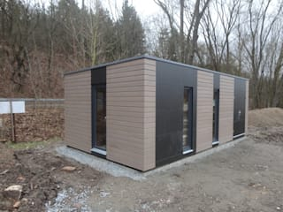 Naturhouse Aussensauna+Gartenhaus: modernes Spa von Naturmont
