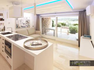 Ristrutturazione Appartamento sul Mare Soggiorno moderno di Architetti Porto Cervo Moderno