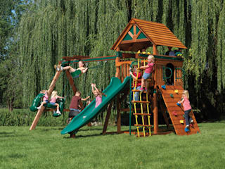 Big Climbing Frames Country style garden by Climbing Frames UK Country