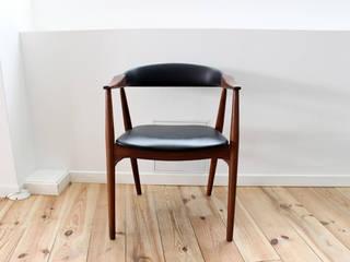 Chaise de bureau en Teck avec accoudoirs par MAISON NORDIK Scandinave