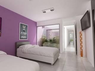 Vivienda Unifamiliar en Plottier, Neuquen, Patagonia: Dormitorios de estilo  por Chazarreta-Tohus-Almendra