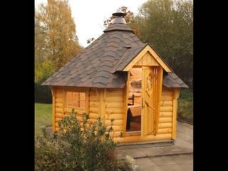 Wolff Finnhaus Holzhütte Grillkota 9-A - Dachschindel grün-schwarz ohne Grill : ausgefallener Garten von GartenXXL