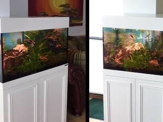 Aquariumschrank in L-Form:  Wohnzimmer von PYRA-Designmoebel.de