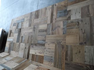 ORIGINAL FIR UPPER FLAT PATINA (BLUE/GRAY) flooring and panels di ANTICO TRENTINO S.R.L. Rustico