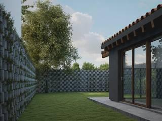 Casa CH-M: Jardines de estilo  por ARstudio