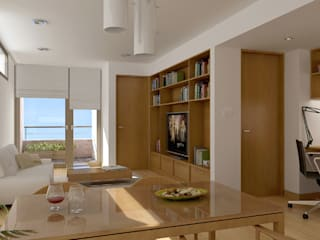 Dining room by Entretrazos, Modern