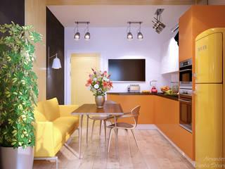 Moderne Küchen von Студия интерьерного дизайна happy.design Modern