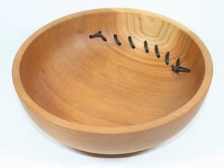 Schale aus europäischer Ulme genäht-4:   von Holzwerkstätte Hennersdorf