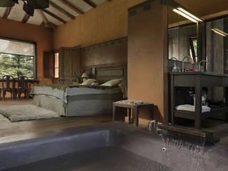 Chalet Atamisque Dormitorios rústicos de Bórmida & Yanzón arquitectos Rústico