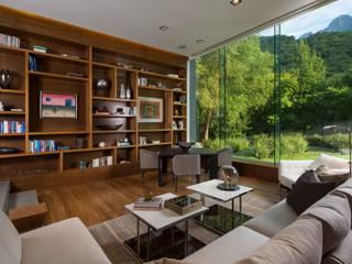 ห้องทำงาน/อ่านหนังสือ โดย GLR Arquitectos, โมเดิร์น