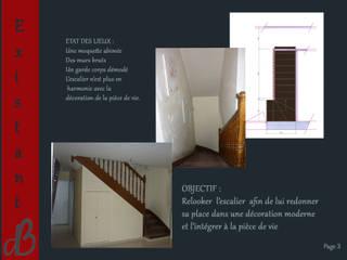 Modifiactions et décoration d'une cage d'escalier Couloir, entrée, escaliers industriels par B.Déco Industriel
