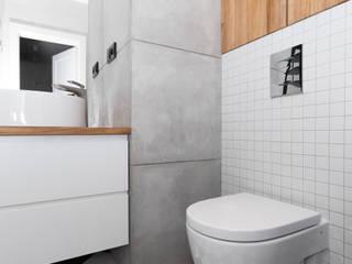 Mieszkanie w Warszawie/ IN PRACOWNIA Minimalistyczna łazienka od www.niewformie.pl Minimalistyczny