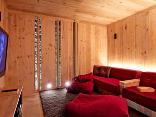 Sala de Cine Weber Arquitectos Salas de entretenimiento de estilo minimalista