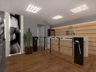 Academia Companhia do Corpo Konverto Interiores + Arquitetura Fitness moderno