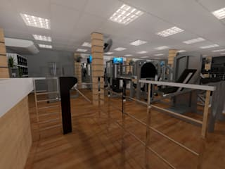 Moderne fitnessruimtes van Konverto Interiores + Arquitetura Modern