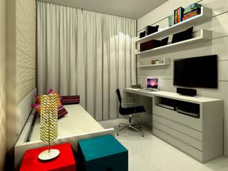 Quarto Carolina - Barra da Tijuca RJ Konverto Interiores + Arquitetura Quartos modernos