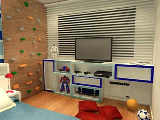 Quarto Gêmeos - Copacabana RJ Konverto Interiores + Arquitetura Quarto infantil moderno