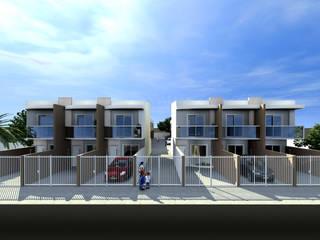 Condomínio Residencial - RJ Konverto Interiores + Arquitetura Casas modernas