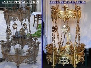 Nettoyage lustre d'Eglise réf. 890:  de style  par Pierre BIAU Bronzier d'Art
