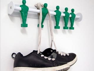 Five A Side Football Coat Hooks: eclectic  by The Letteroom, Eclectic