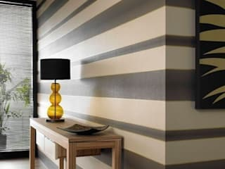 Verve Stripe Brown and Gold Wallpaper:   by Wallpaperking
