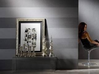 Palatino Silver Grey Striped Wallpaper:   by Wallpaperking