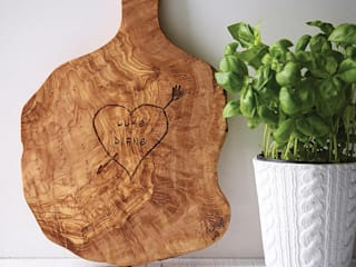 Personalised Rustic Tree Name Carving Chopping/Cheese Board:   by The Rustic Dish