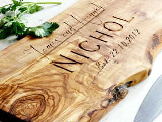 Personalised Rustic Wooden Chopping / Cheese Board - in 4 Sizes: rustic  by The Rustic Dish, Rustic