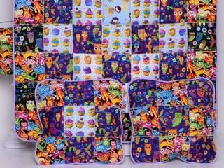 Narzuta SWEET VIOLET 95x150cm + poduszki: styl , w kategorii  zaprojektowany przez majunto