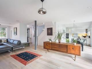 Abbots Gardens, N2 现代客厅設計點子、靈感 & 圖片 根據 XUL Architecture 現代風